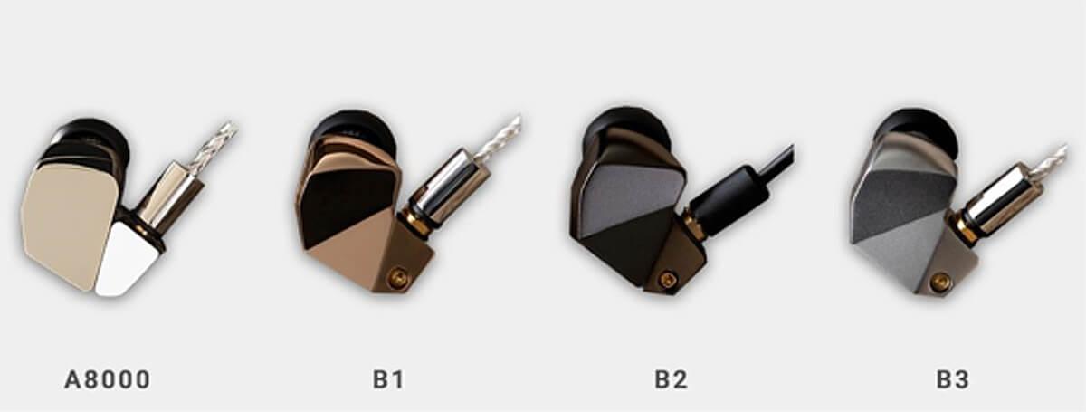 Final Audio In-Ear-Modelle A8000, B1, B2 und B3