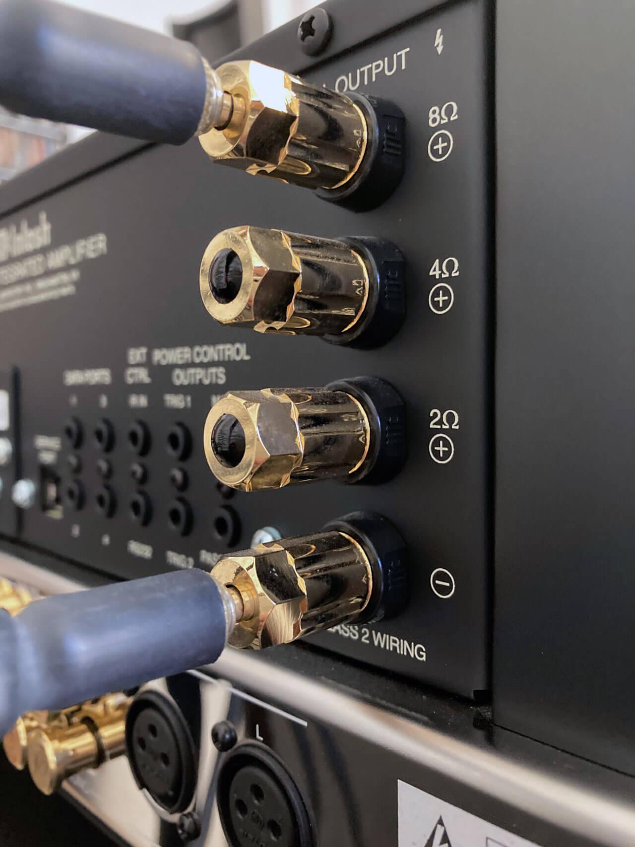 McIntosh MA8900 AC: 2-, 4- und 8-Ohm-Abgriff