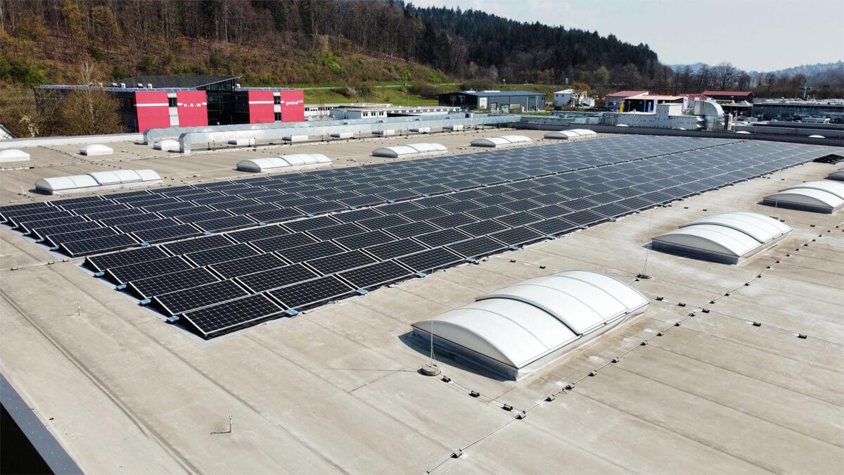 Nubert PV-Anlage auf dem Dach