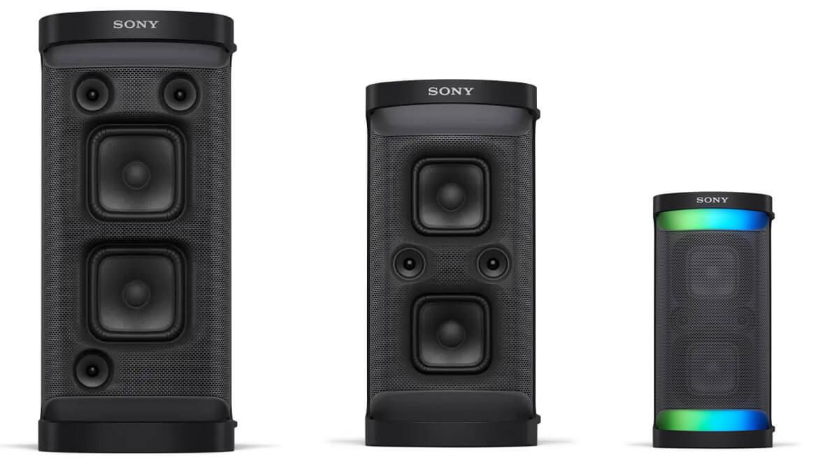 Sony SRS-XP700, SRS-XP500 und SRS-XG500: Bluetooth-Lautsprecher im Größenvergleich