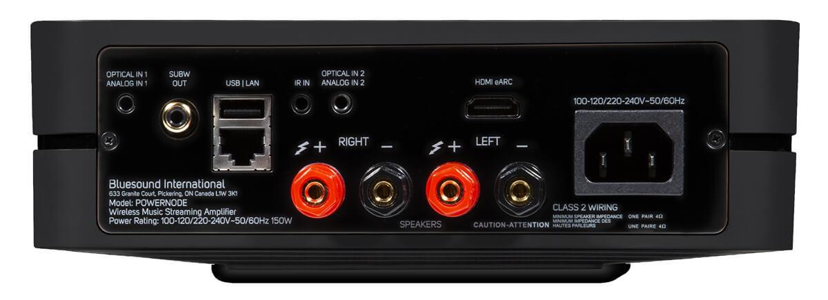 Bluesound Powernode - hier finden auch Lautsprecher direkt Anschluss