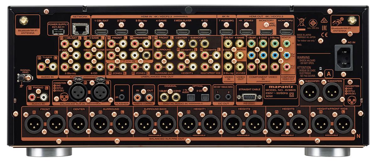 Marantz AV8805A: AV-Vorverstärker Rückseite