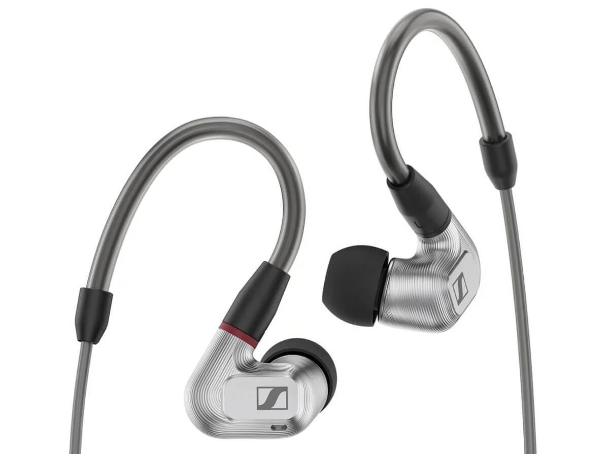 Sennheiser IE 900 Ohrhörer, Rück- und Seitenansicht: Die Gehäuse sind aus Aluminium gefräst