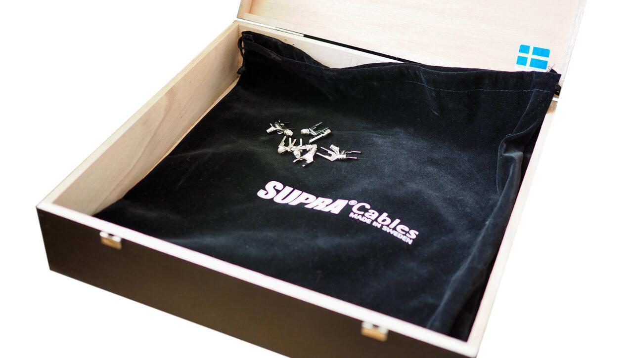 Supra Sword Excalibur: Verpackung, Holzkiste