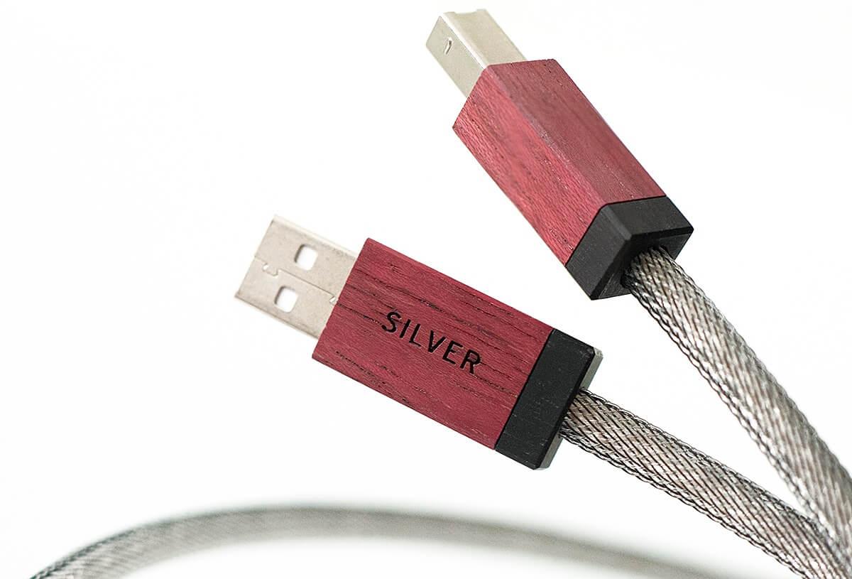 Kimber Kable Select USB AG mit Datenleiter und Versorgungsspannungsleitern aus Silber