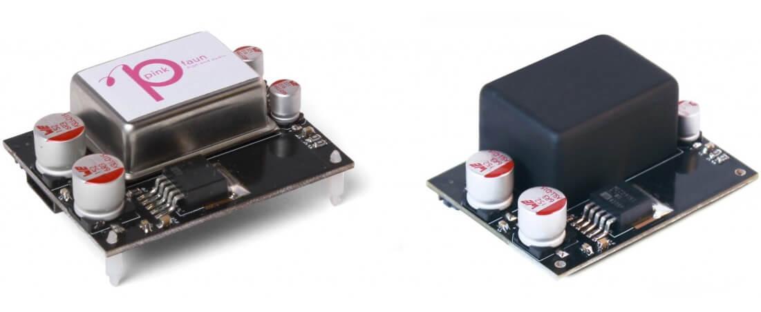 Pink Faun OCXO-Clock (links) und Ultra-OCXO-Clock (rechts)