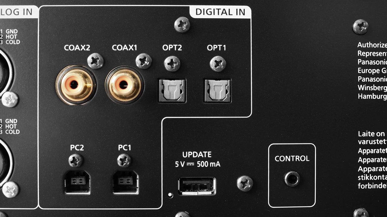 Technics SU-R1000: digitale Eingänge