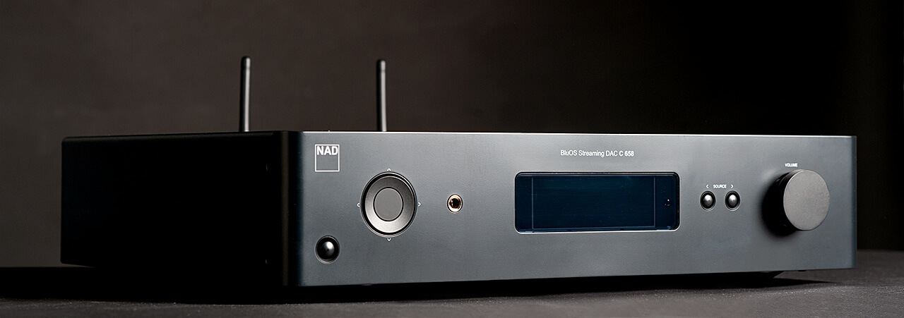 NAD C 658 - linke Seite der Front