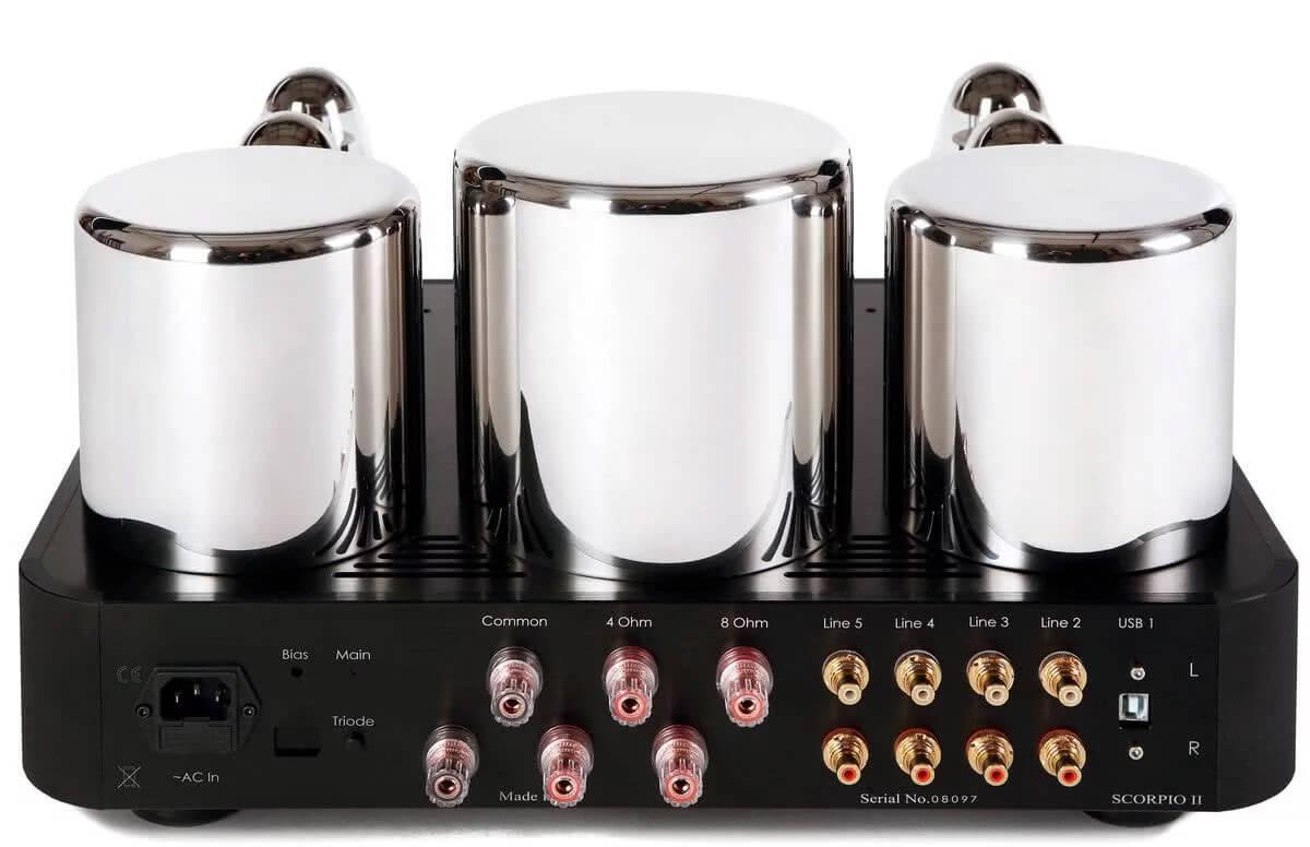 Ayon Audio Scorpio II: Rückseite mit Anschlüssen