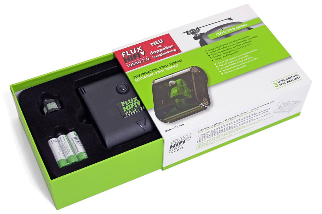 Flux-Hifi Turbo 2.0 in der Verpackung