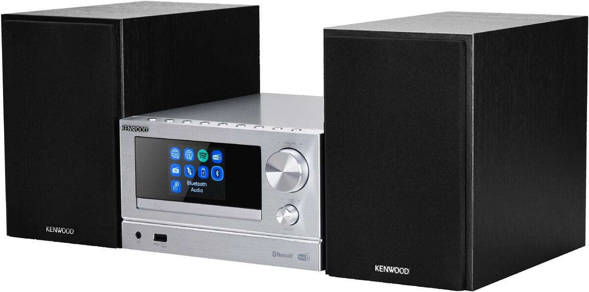 Kenwood M-7000S und M-9000S Smart Hifi Systeme in Silber und Schwarz