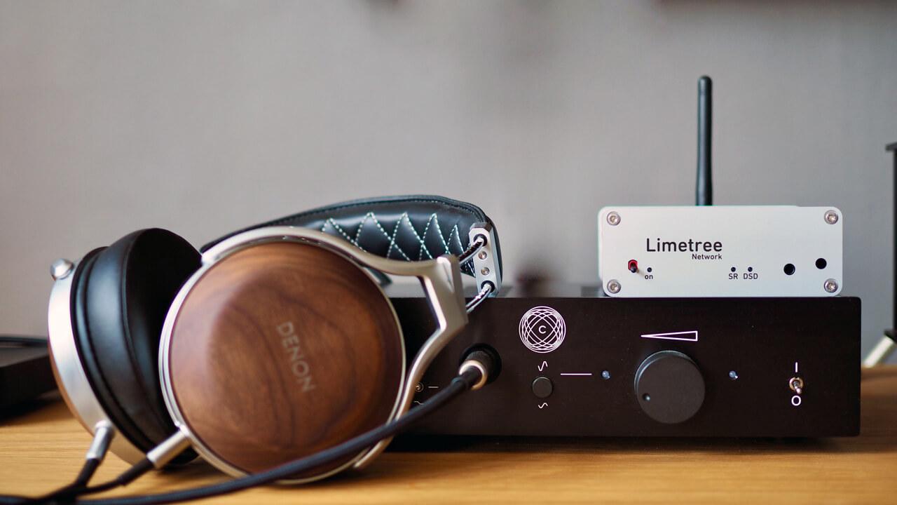 Lindemann Limetree Network II mit Kopfhörer Denon AH-D7200
