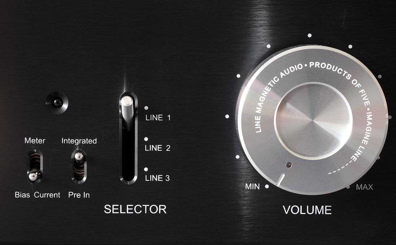 Line Magnetic LM-150IA - Eingangswahl, Lautstärkeregelung