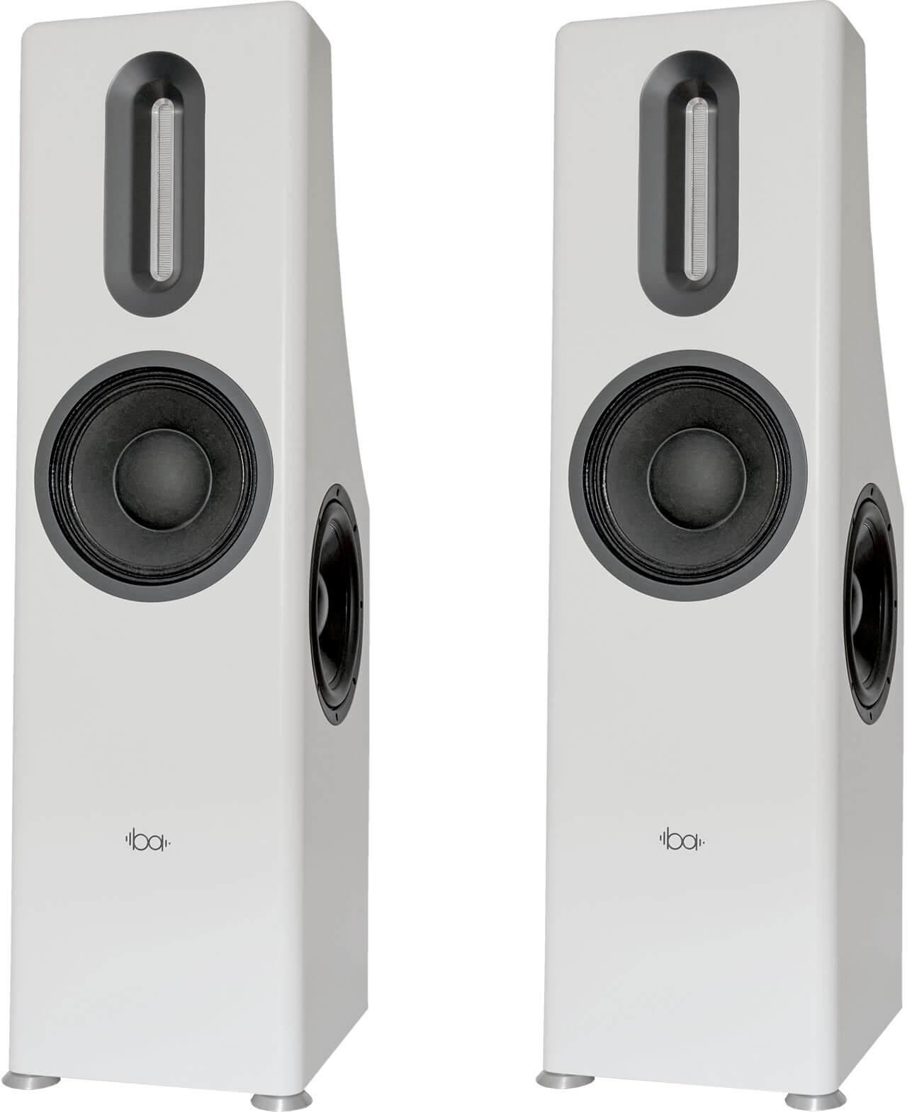 Die aktive Bohne Audio BB-10L ist ein Zweiwegesystem - die Treiber auf der Seite sind Passivmembranen zur Unterstützung des Tiefbassbereichs