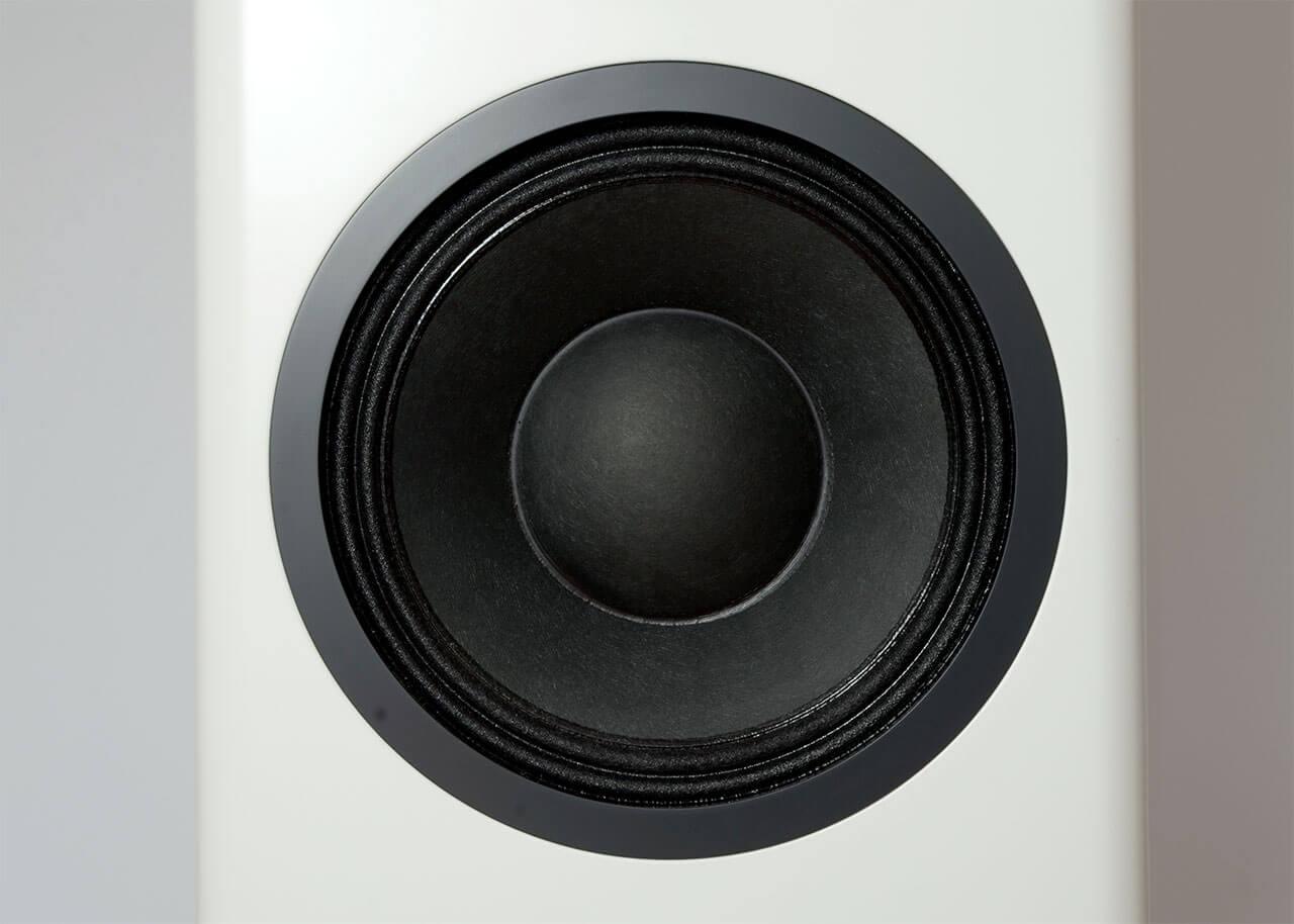Der (aktive) Bass-/Mitteltontreiber der Bohne BB-10L