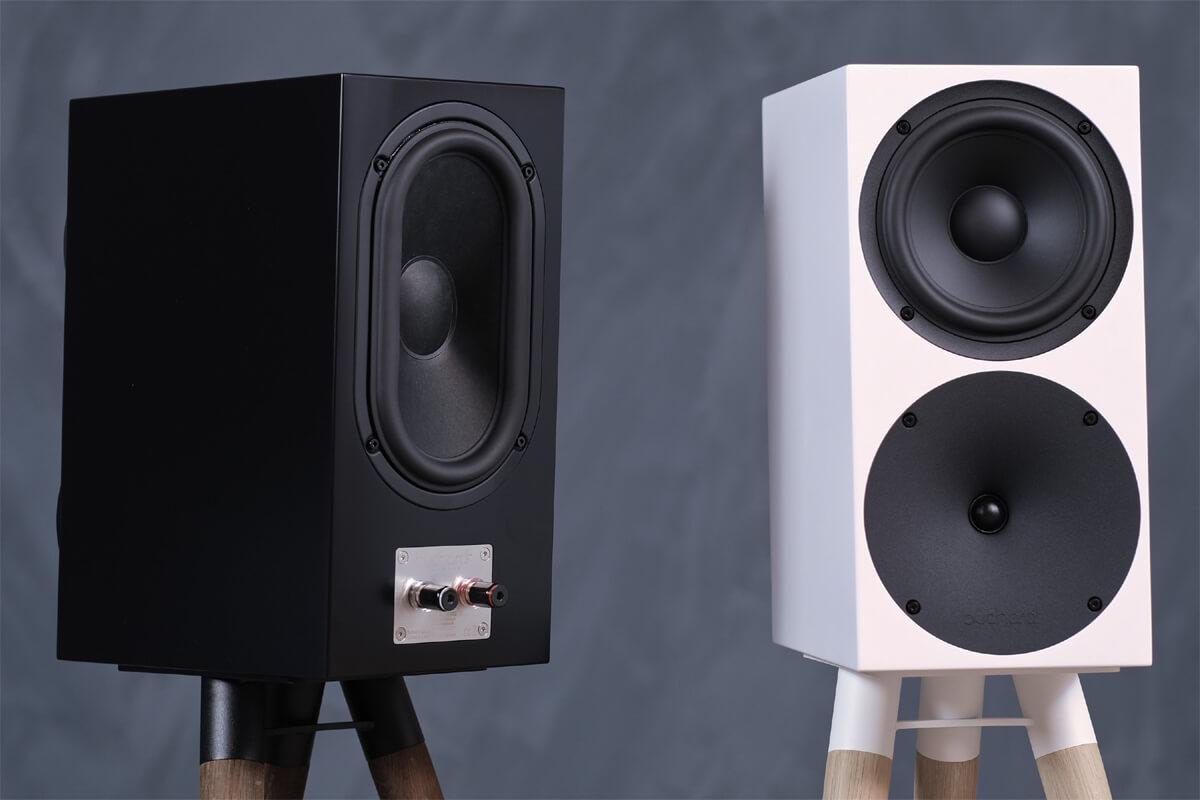 Buchardt Audio S400 MKII Lautsprecher: Vorder- und Rückseite