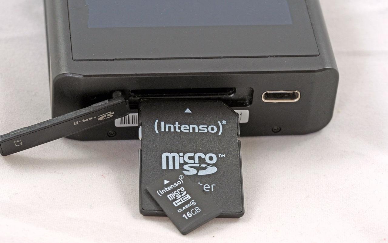 Der Lotoo PAW Gold Touch akzeptiert SD-Karten mit bis zu 2 TB Kapazität, der Player weist keinen internen Speicher auf