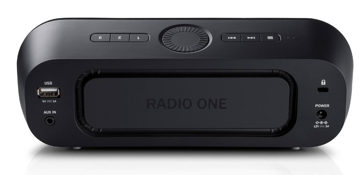 Teufel Radio One Radiowecker: Rückseite mit Paasivmembran