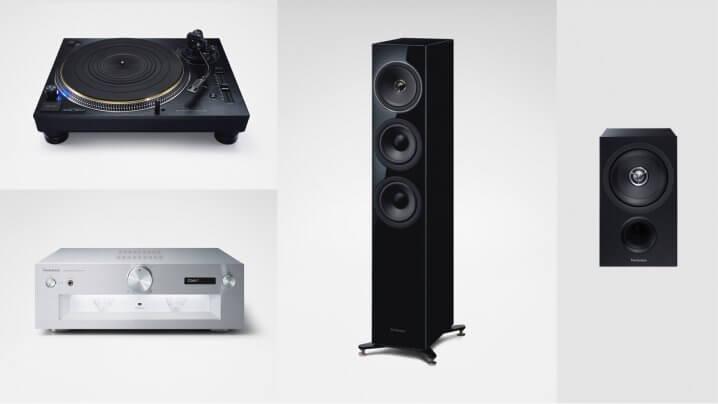 Lautsprecher Technics SB-G90M2 und SB-C600E-K, Verstärker Technics SU-G700M2 sowie Plattenspieler Technics SL-1210G