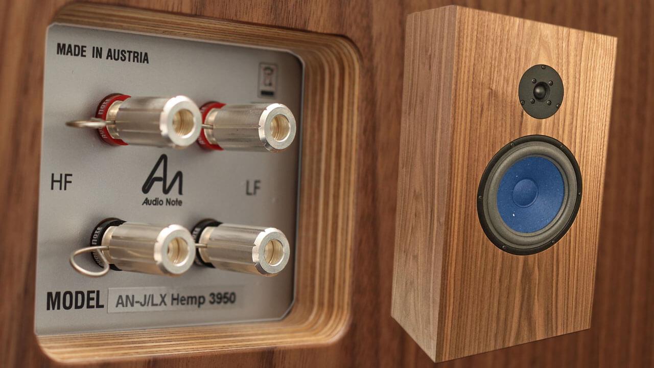 Audio Note AN-J/LX HEMP: Anschlussklemmen hinten und Schallwand vorne
