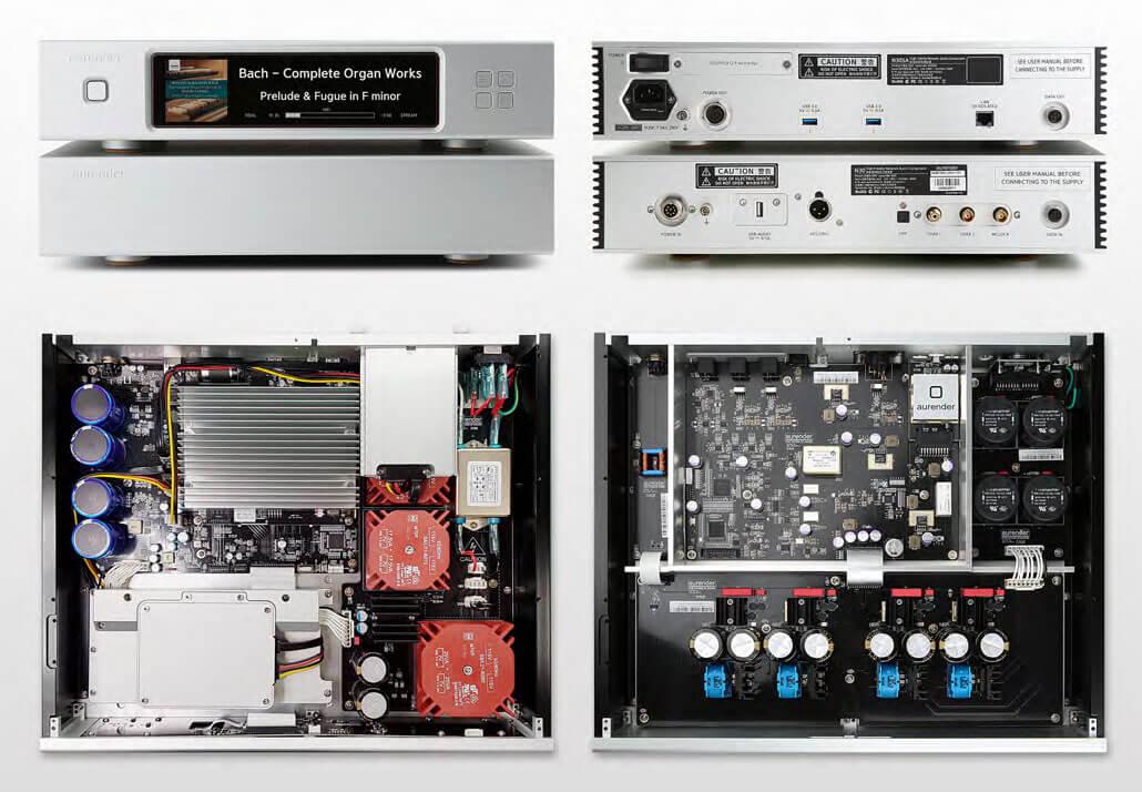 Der Aurender N30SA kommt mit zwei Gehäusen - eines für die Stromversorgung und die Server-Aufgaben, das zweite für die Player-Engine