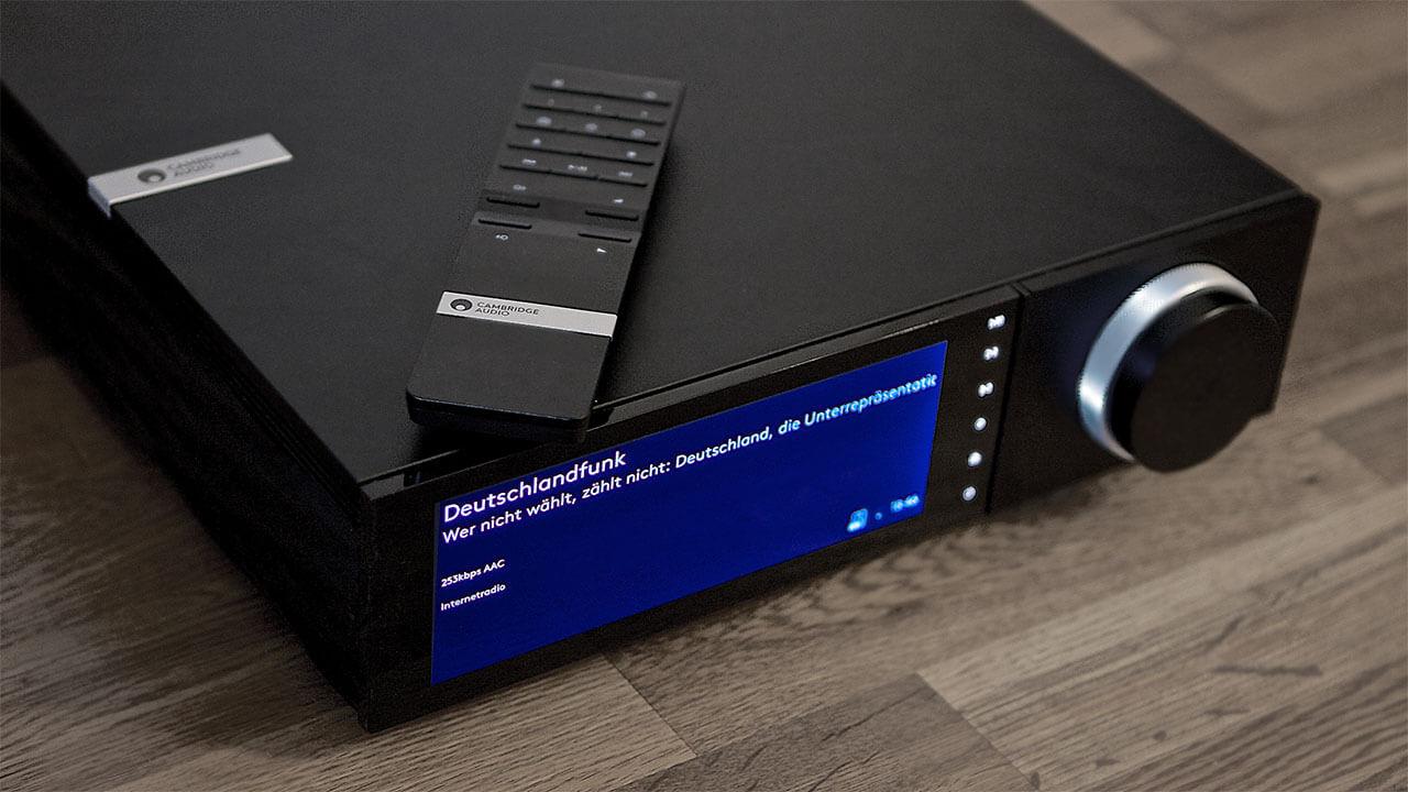 Der Cambridge Audio EVO 150 empfängt Radio via Internet, doch nicht über FM oder DAB+