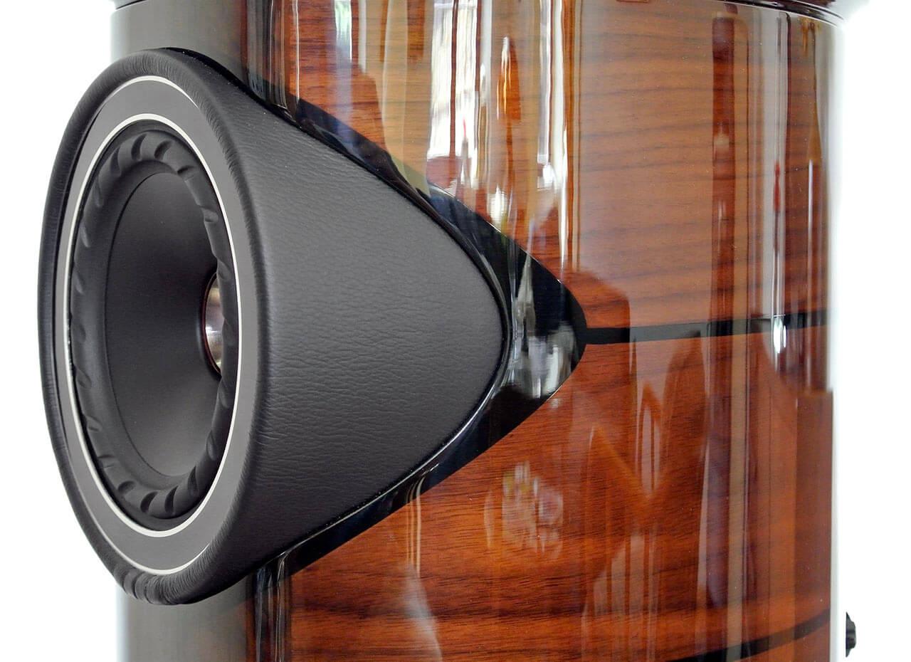 Koaxtreiber der Fyne Audio F1-5, seitliche Einfassung