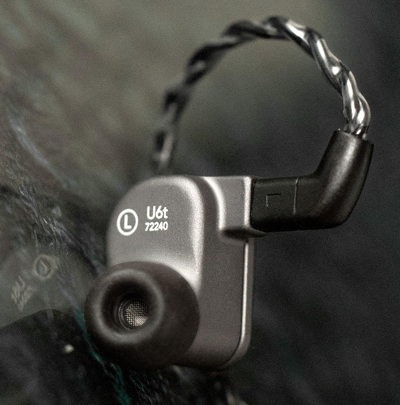 64 Audio U6t In-Ear-Monitor: Schallöffnung mit Earbud