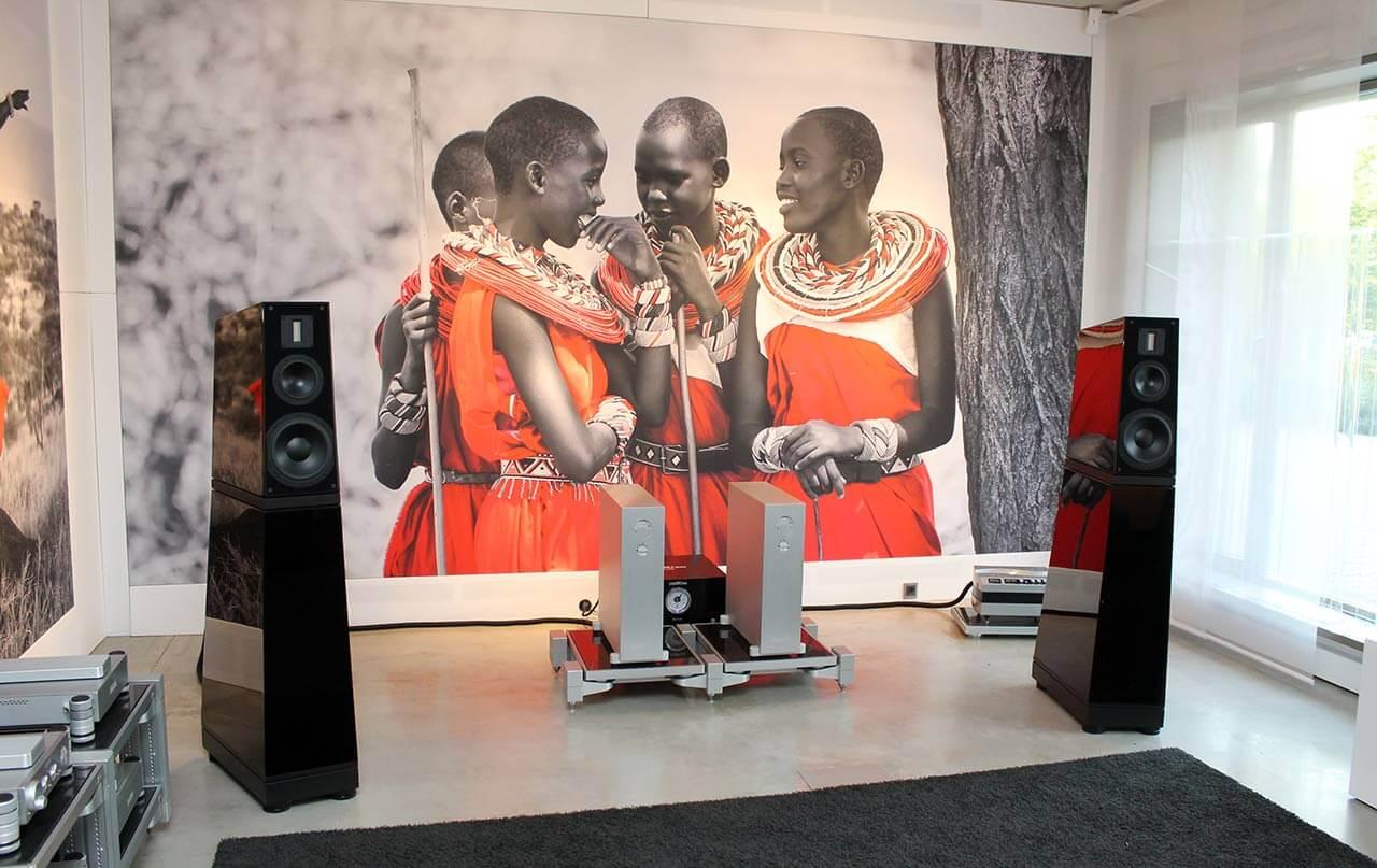 Verity Audios Top-Modelle LohengrinIIS, angetrieben von Monoblöcke aus der HD-Serie von Nagra