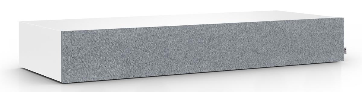 """Die Nubert nuBoxx AS-425 max: hier in der Variante """"Eisgrau"""" und mit magnetisch haftender Bespannung"""
