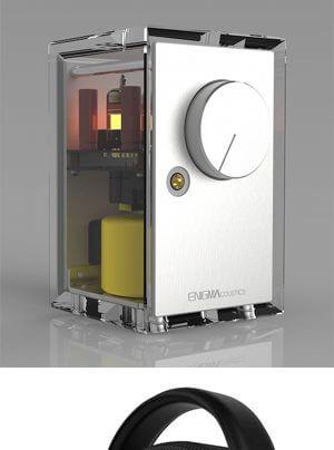 ENIGMAcoustics Dharma 1000 Kopfhörer und Athena A1 Kopfhörerverstärker, Portento Incanto Kopfhörerkabel