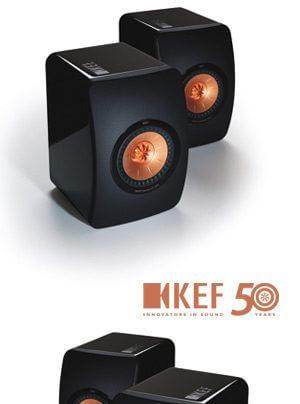 KEF LS50 Zweiwege-Bassreflex-Kompatklautsprecher