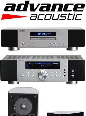 Elysée EL 300 Standlautsprecher, Elysée EL 200 Kompaktlautsprecher, MAX 250 Hybrid-Vollverstärker, MCX 400 Röhren-CD-Spieler