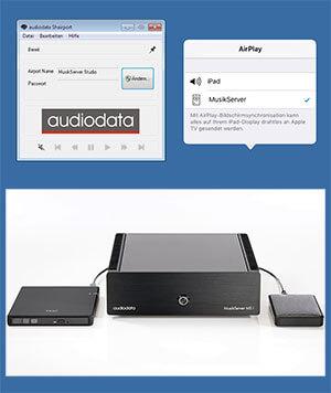 Audiodata Shairport macht MusikServer Airplay fähig