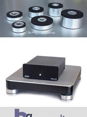 bFly-audio Gerätebasen und Füße im Kleinformat