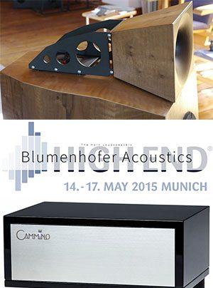 Blumenhofer Acoustics auf der High End 2015 mit Einstein Audio, Cammino und TechDAS