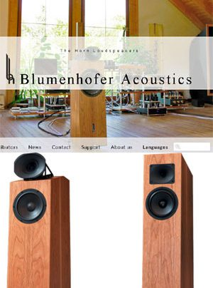 Blumenhofer Acoustics Website Relaunch