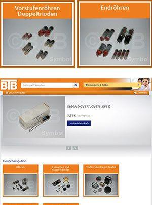 BTB Elektronik neuer Onlineshop Elektronik Röhren