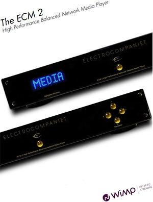 Electrocompaniet ECM 2 Netzwerkplayer WiMP-Integration