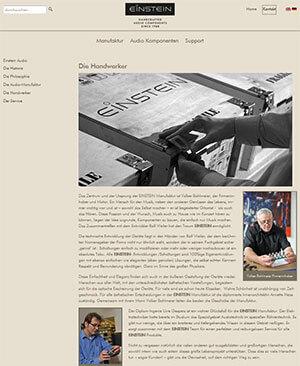 Einstein Audio neuer Webauftritt 07-13