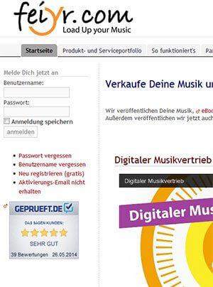 feiyr - digitaler musik vertrieb