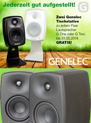 Genelec Osteraktion G One G Two Standfüße
