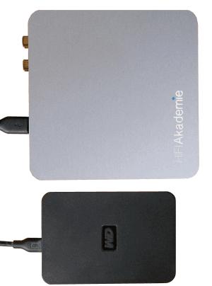 HiFiAkademie miniStreamer Update macht Anschluss einer USB-Festplatte möglich