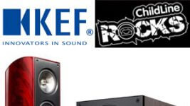 KEF und Childline Rocks Spendenaktion XQ30, Q100 und T105 Lautsprecher