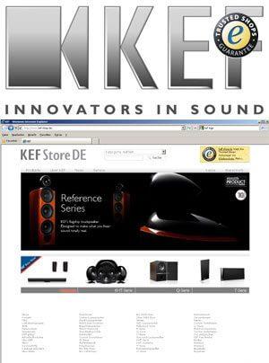 KEF Online-Shop mit Trusted Shops Gütesiegel und 50 Euro Einkaufsgutschein Aktion