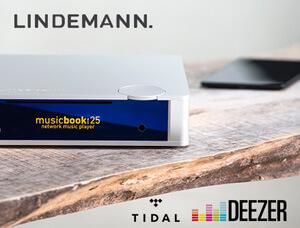 Lindemann musicbook:20 und 25 - Firmware-Update Tidal, Deezer