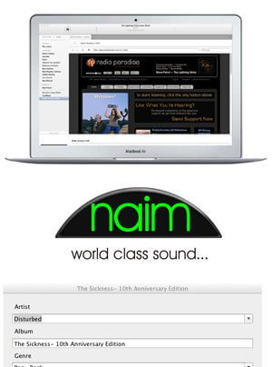 Naim n-Serve Musikserversoftware für iOS