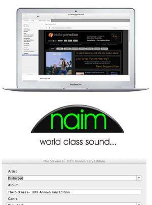 Naim n-Serve Musikserversoftware für iOS