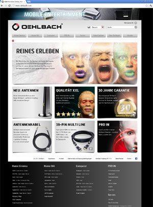 Oehlbach Relaunch der Internetpräsenz