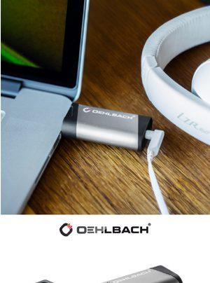 Oehlbach USB Bridge DAC/Kopfhörerverstärker im Stickformat